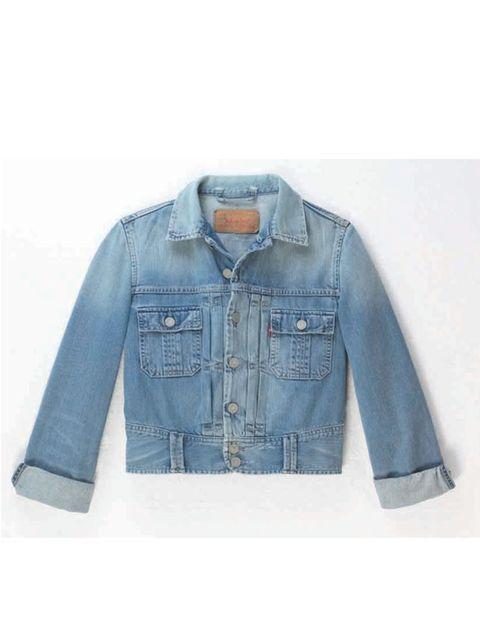 <p>Cropped denim jacket, £120, by Levi's (01604 599 735)</p>