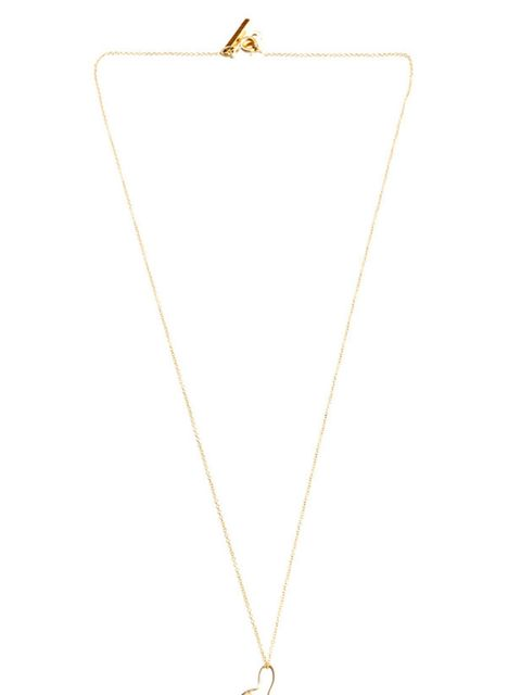 <p>Gold rabbit pendant necklace, £595, by Katie Hillier at Matches </p>