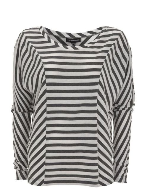 """<p>Stripe batwing top, £22, by <a href=""""http://www.warehouse.co.uk/fcp/product/fashion/Casual-Tops/stripe-batwing-long-sleeve-top/299096"""">Warehouse</a> </p>"""