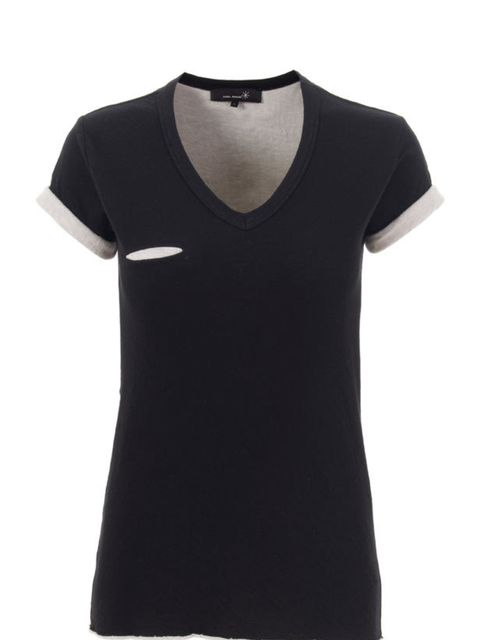 """<p>Double layer T-shirt, £99.50 (was £139.50), by Isabel Marant at <a href=""""http://www.start-london.com/shop/short%20sleeve%20v%20neck%20dbl%20layer%20tee-p-322.html"""">Start</a> </p>"""