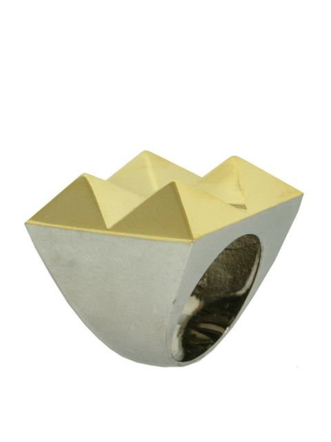 "<p>Gold and silver stud ring, £70, by Noir at <a href=""http://www.kabiri.co.uk/rings/four-point-ring-plain.html"">Kabiri </a></p>"