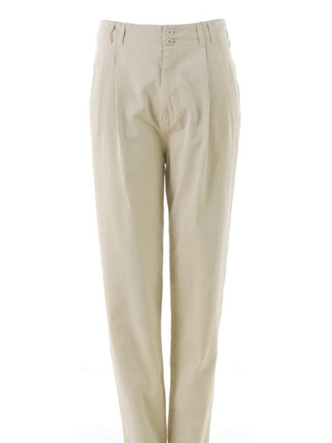 <p>Beige chinos, £130, by B Store (0207 734 6846)</p>