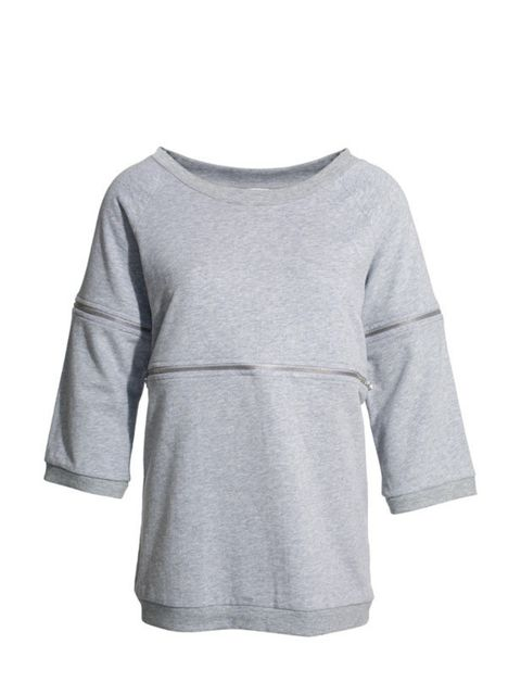 <p>Grey zip sweater, £79, by 1971 Reiss (0207 473 9630) </p>