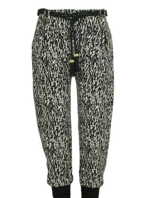 "<p>Tribal print trousers, £24.99, by <a href=""http://xml.riverisland.com/flash/content.php"">River Island </a></p>"