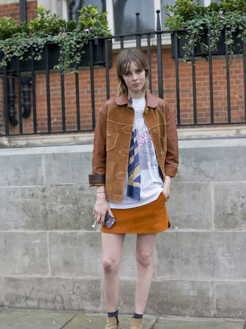 Edie Campbell at London Collections: Men in January 2016