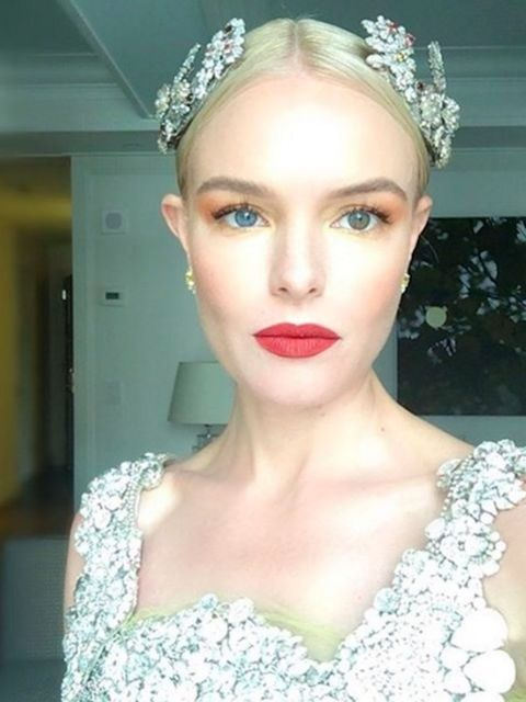 Perfect selfie alert from Kate Bosworth in Dolce & Gabbana