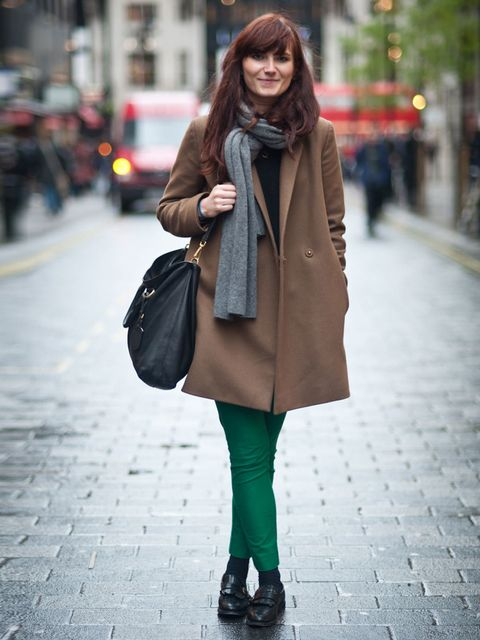 <p>Alisha Duncan, 25, assistant buyer. Cos coat, scarf and jeans, Cheap Monday sweater, Russell & Bromley shoes, Prada bag.</p><p>Photo by Stephanie Sian Smith</p>