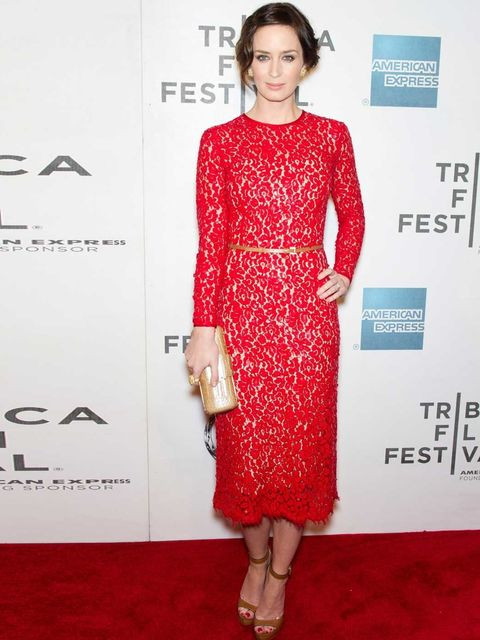 <p>Emily Blunt wore Michael Kors to a film premiere in New York</p>