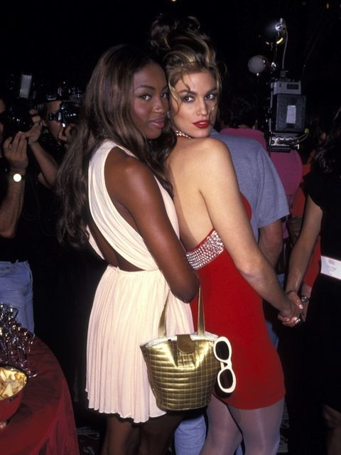 <p>With Naomi Campbell in 1991</p>