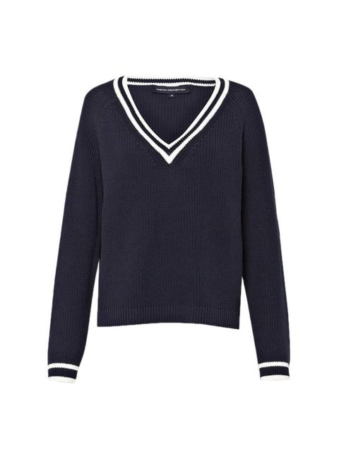 "<p>We were going to write a play on words here using some cricket terminology; but who are we kidding, we don't watch cricket. Still, we love Beauty Assistant Joely Walker's new knit.</p><p><a href=""http://www.frenchconnection.com/product/Woman+Collection"