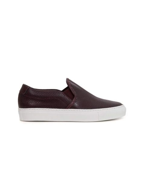 """<p>The skater shoe gets an upgrade.</p><p>Common Projects slip-ons, £285 at <a href=""""http://shop.doverstreetmarket.com/sneaker-space/common-projects/common-projects-women-s-slip-on-perforated-ox-blood"""">Dover Street Market</a></p>"""