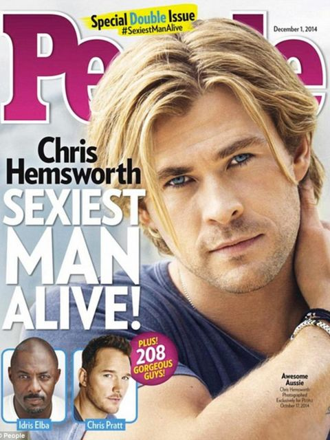 <p>Chris Hemsworth is People magazine's Sexiest Man Alive, 2014. Just. Look. At. That. Face.</p>