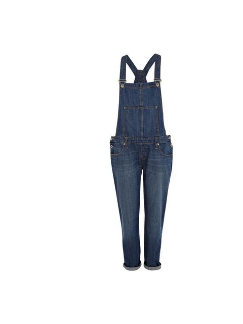 "<p>Acting Market & Retail Editor Julia Shutenko wore these denim dungarees to the office with black espadrilles and a white t-shirt for laid-back summer style, throwing on a pair of neon yellow court shoes for evening.</p><p><a href=""http://www.riverislan"