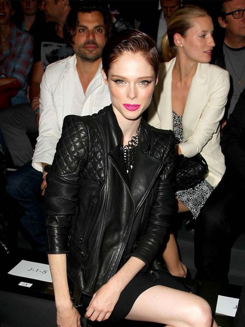 "<p><a href=""http://www.elleuk.com/star-style/celebrity-style-files/coco-rocha"">Coco Rocha</a> at <a href=""http://www.elleuk.com/elle-tv/catwalk/diesel-black-gold-spring-summer-2014-new-york-fashion-week"">Diesel Black Gold</a>, New York</p>"