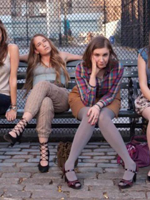<p>Jemima Kirke as Jessa Johansson and Lena Dunham as Hannah Horvath in Girls</p>