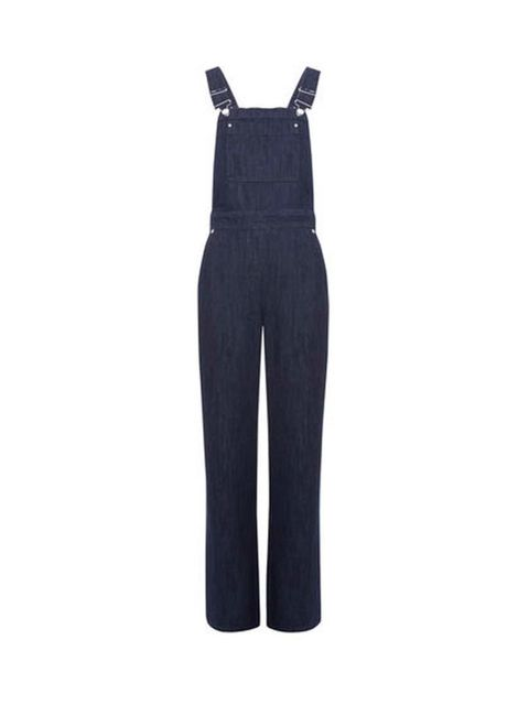 "<p>Perfect over a simple breton stripe.</p>  <p><a href=""http://www.whistles.com/women/clothing/jeans/wide-leg-dungarees-20915.html?dwvar_wide-leg-dungarees-20915_color=Denim"" target=""_blank"">Whistles</a> dungarees, £120</p>"