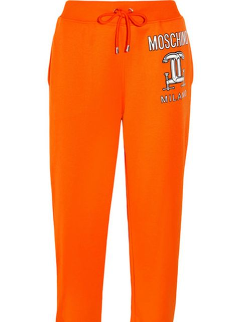 "<p><a href=""https://www.net-a-porter.com/gb/en/product/637600"" target=""_blank"">Cotton-mix tracksuit bottoms, £230, Moschino at Net-a-Porter</a></p>"