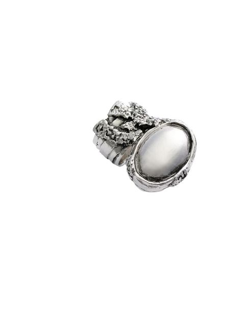 <p>Yves Saint Laurent 'Arty' ring in silver, £165, for stockists call 0207 493 1800</p>