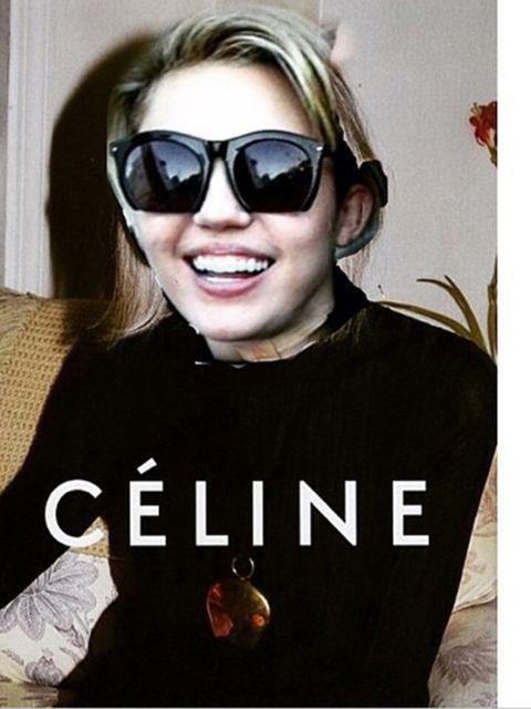 <p>Miley Cyrus for C&eacute;line, s/s 2015.</p>