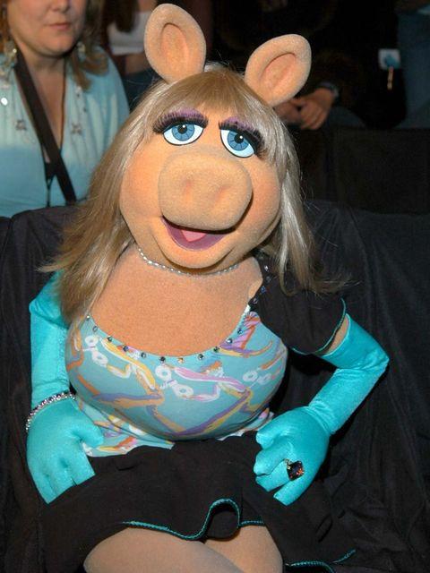 <p>Miss Piggy at New York Fashion Week, 2005</p>