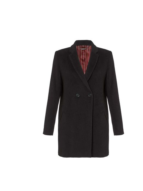 """<p>We love the boxy cut of this mannish coat - keep the proportions in balance with neat tapered trousers or slim-fitting jeans, and a flash of ankle!</p><p><a href=""""http://www.jigsaw-online.com/products/luxe-double-breasted-coat-7810"""">Jigsaw</a> coat, £2"""