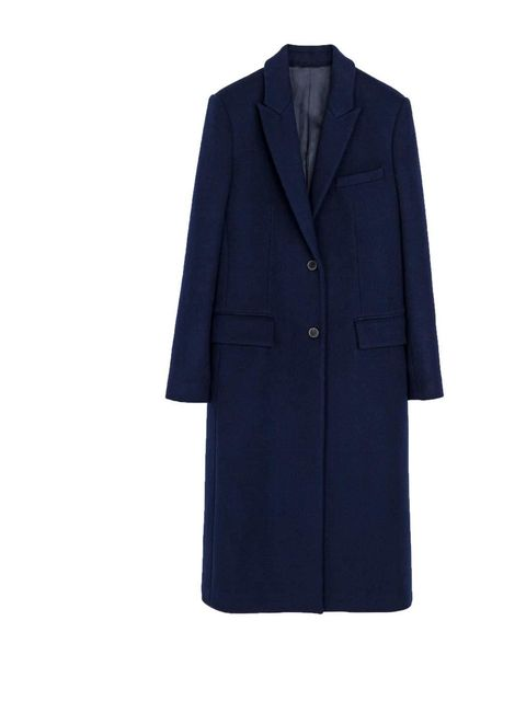 "<p>This tailored navy coat is a wear-forever piece - starting right now for Fashion Assistant Espe de la Fuente.</p><p><a href=""http://www.zara.com/uk/en/woman/coats/masculine-studio-coat-c269183p1522010.html"">Zara</a> coat, £159</p>"