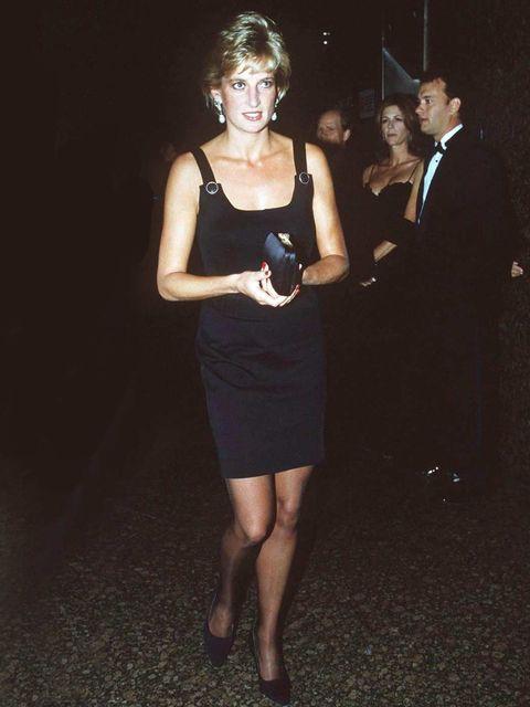 <p>Princess Diana wearing Versace</p>