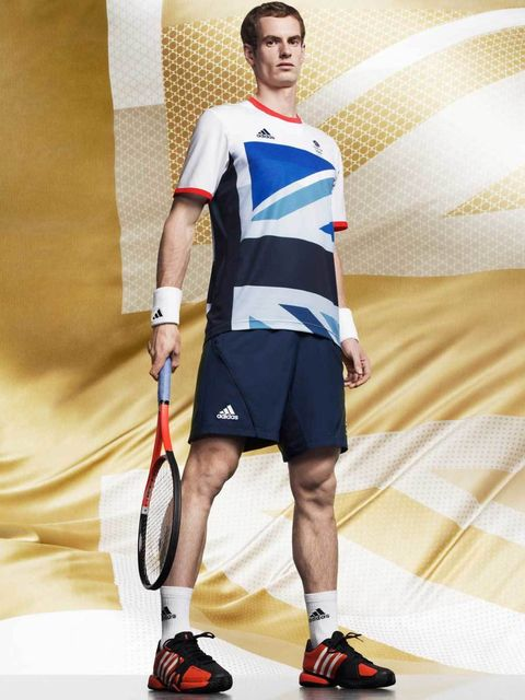 <p>Olympic athlete Andy Murray in his Adidas British team kit for the London 2012 Olympic and Paralympics games – designed by Stella McCartney </p>