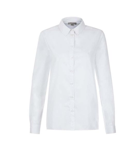 """<p>Add a white classic shirt for a sophisticated look.</p><p>Get this one from <a href=""""http://www.hobbs.co.uk/product/display?productID=0213-6355-3428L00&productvarid=0213-6355-3428L00-WHITE-14&refpage=tops/shirts"""">Hobbs</a>, £63.20</p>"""