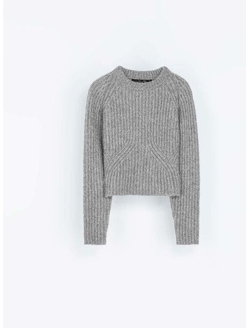 """<p>A knitted cropped jumper is always a good option for layering up the look.</p><p><a href=""""http://www.zara.com/uk/en/new-this-week/woman/cowl-neck-rib-knit-sweater-c287002p1404504.html"""">Zara</a>, £45.99</p>"""