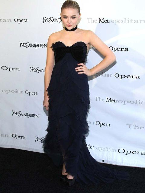 <p>Chloe Moretz in YSL</p>