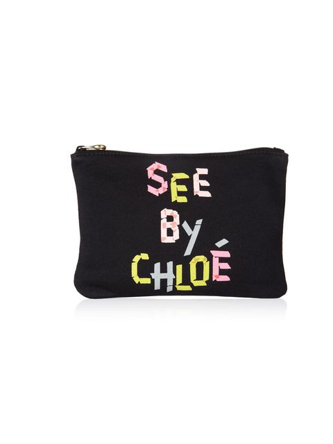 """<p>See by Chloe cotton clutch, £33.95, at Harrods</p><p><a href=""""http://shopping.elleuk.com/browse?fts=see+by+chloe+tape+pouch"""">BUY NOW</a></p>"""
