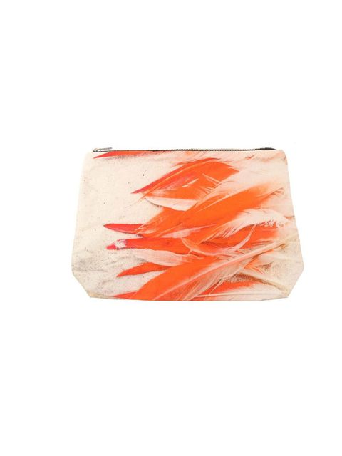 """<p>Samudra feather print cotto clutch, £60, at Browns</p><p><a href=""""http://shopping.elleuk.com/browse?fts=samudra+flamingo+clutch"""">BUY NOW</a></p>"""