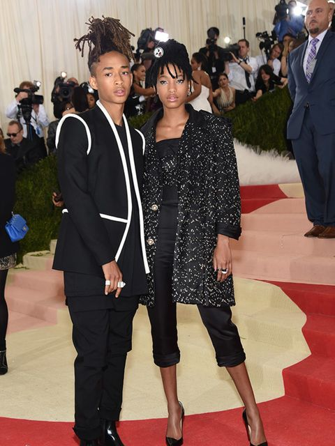 Jaden and Willow Smith at the Met Gala in New York, May 2016.
