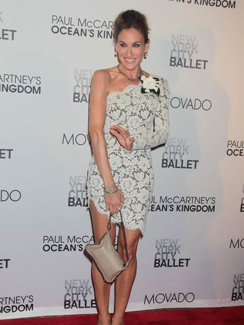 "<p><a href=""http://www.elleuk.com/starstyle/style-files/(section)/Sarah-Jessica-Parker"">Sarah Jessica Parker</a> at Lincoln Center.</p>"