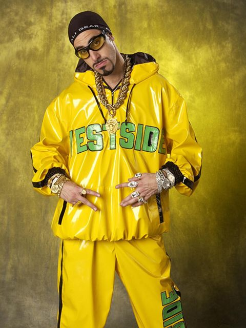 Normally seen sporting a Tommy Hilfiger number, our main man Ali G embraces a local tracksuit brand.