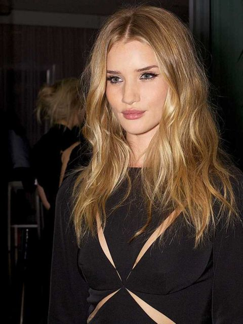 You would be forgiven for thinking if you had hair like Rosie Huntington-Whiteley  you'd never cut it...