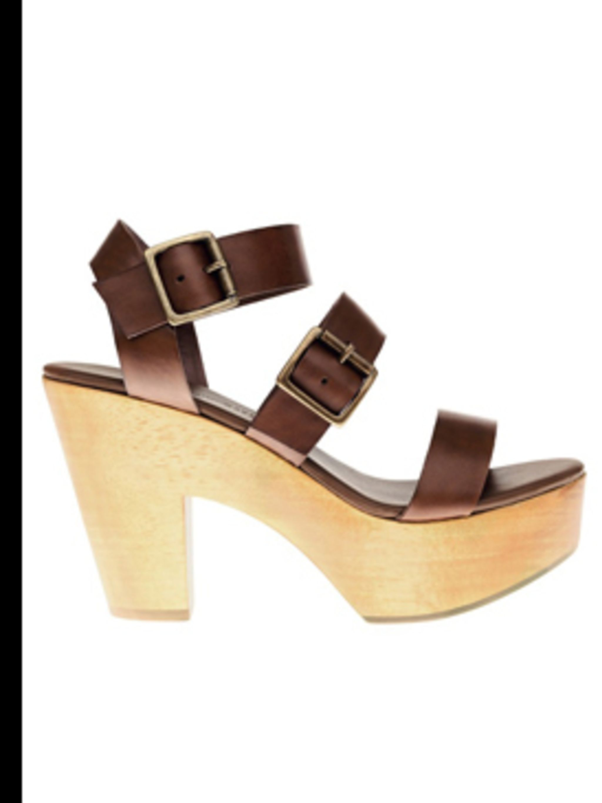 <p>Leather platform shoes, £55 by Gap. For stockists call 0800 427 789.</p>