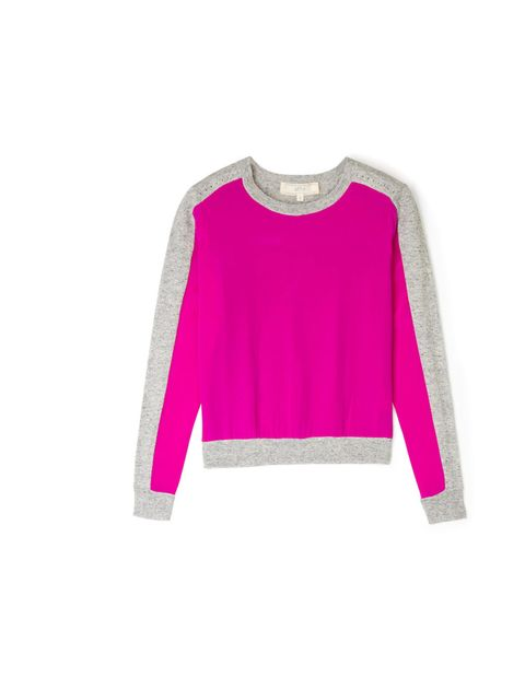 "<p>Sports-luxe takes a feminine turn this season so mix ladylike colour with modern cuts... Vanessa Bruno panel jumper, £140, at My-Wardrobe</p><p><a href=""http://shopping.elleuk.com/browse?fts=vanessa+bruno+jumper+my-wardrobe"">BUY NOW</a></p>"