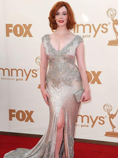 <p>Christina Hendricks in Johanna Johnson at the 2011 Emmy Awards.</p>