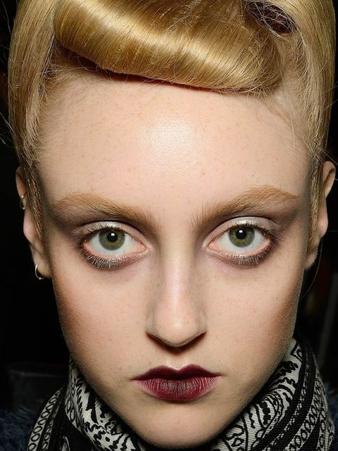 "<p>Make-up Artist: Tom Pecheux for Mac</p><p>Look: Kiss of Death</p><p>Inspiration: Dark fairytale creatures and Little Red Riding Hood.</p><p>Key Product: <a href=""http://www.maccosmetics.co.uk/product/sh"