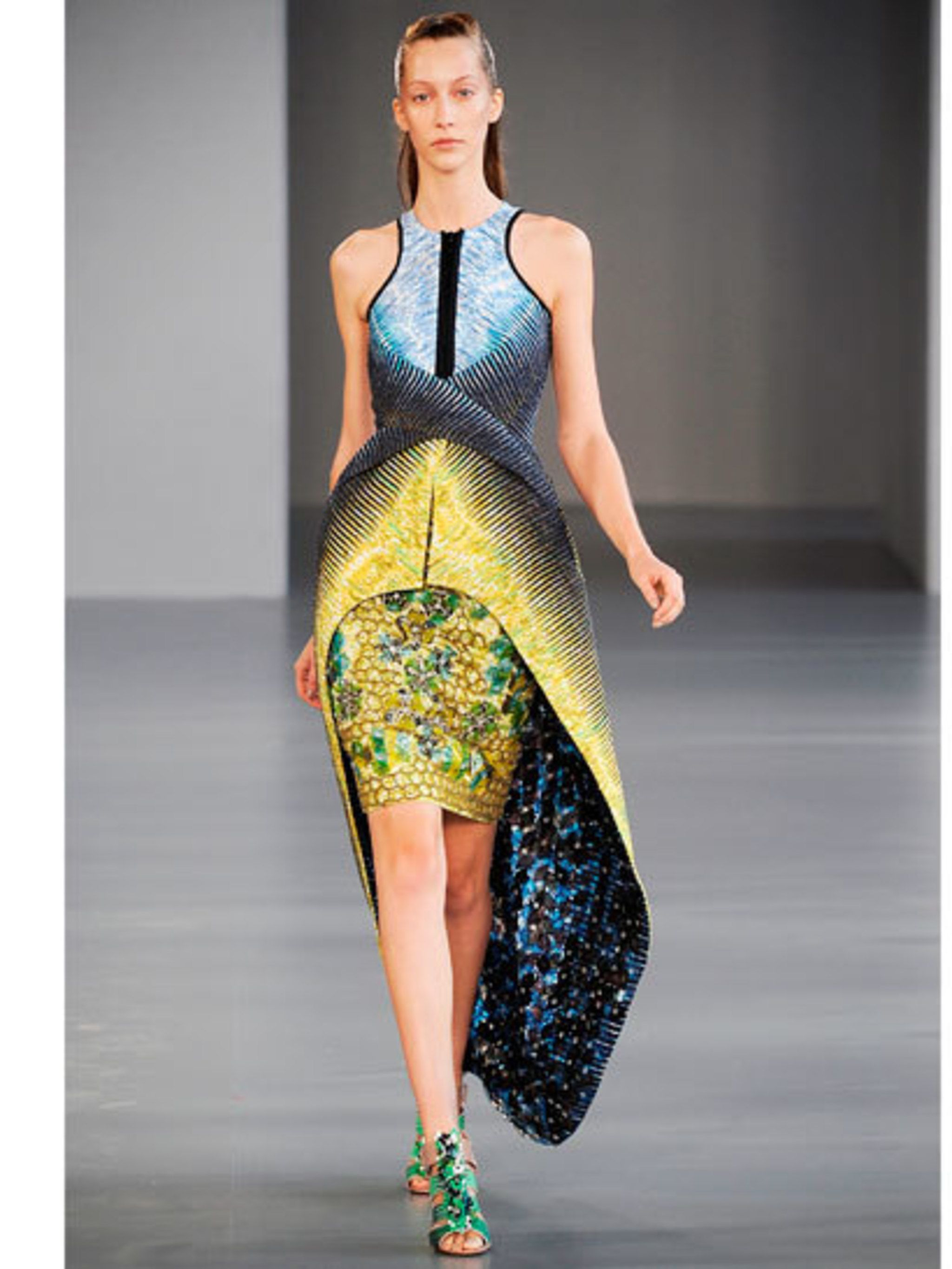 <p>A Peter Pilotto dress from the Second Nature exhibition</p>