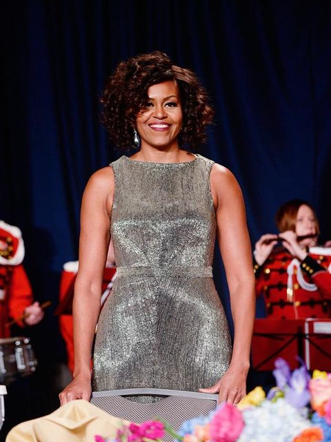<p>Michelle Obama wears Zac Posen to the 101st Annual White House Correspondents' Dinner in Washington, April 2015.</p>