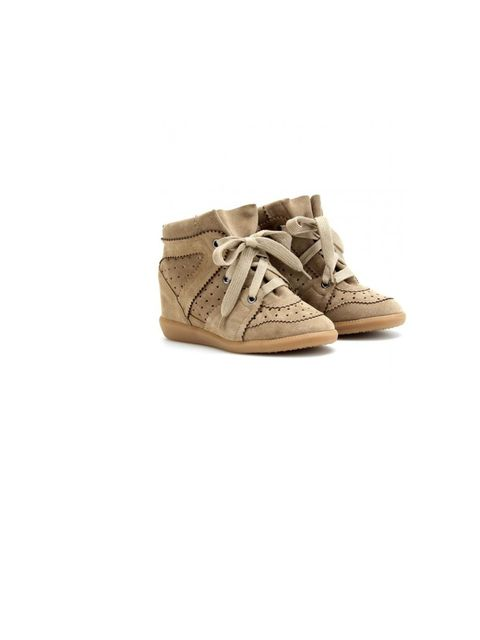 """<p>Isabel Marant 'Bobby' sneakers, £385, at <a href=""""http://www.mytheresa.com/uk_en/bobby-wedge-suede-sneakers.html"""">mytheresa.com</a></p>"""