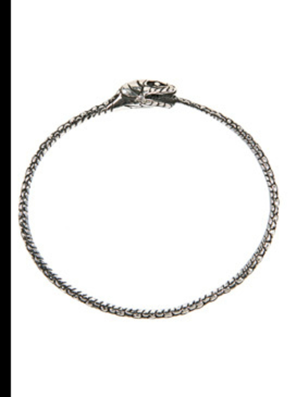 "<p>Bangle, £150.00 by Zoe &amp&#x3B; Morgan at <a href=""http://www.my-wardrobe.com/zoe-morgan/silver-eternity-snake-bangle-by-zoe-morgan"">My-Wardrobe</a></p>"