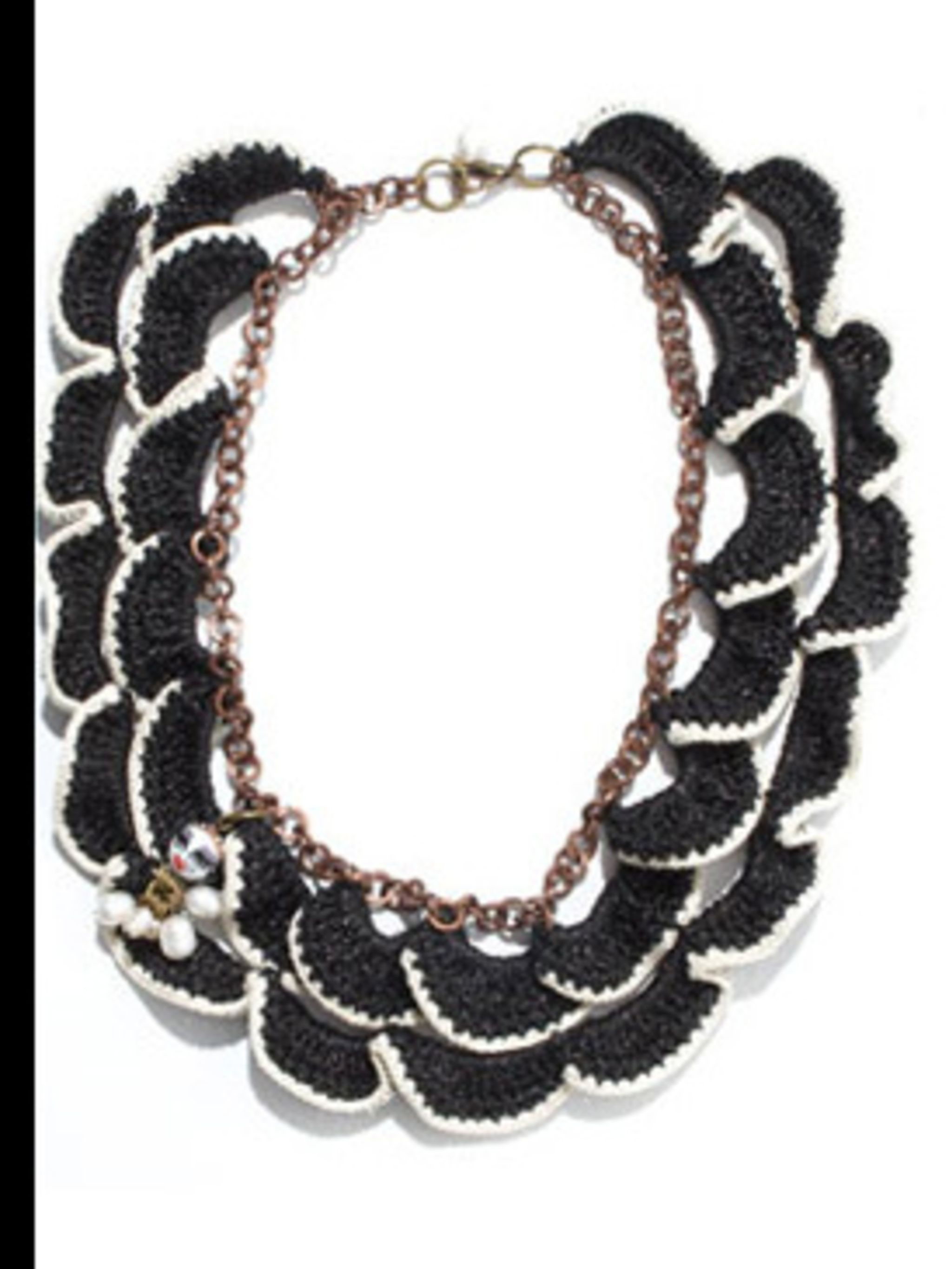 "<p>Necklace, £65.00 by Adorisadora at <a href=""http://www.dolcev.com/product.php?ProdID=921&DeptID=30"">Dolce V</a></p>"