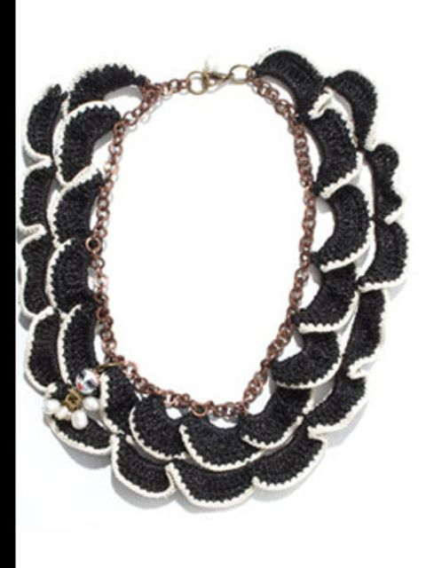 "<p>Necklace, £65.00 by Adorisadora at <a href=""http://www.dolcev.com/product.php?ProdID=921&amp;DeptID=30"">Dolce V</a></p>"