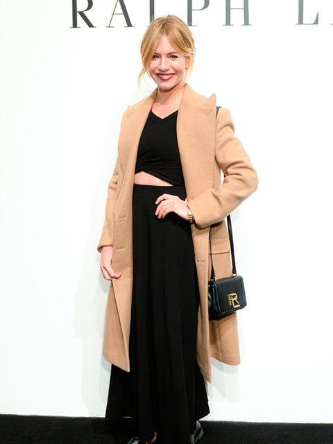 Sienna Miller at Ralph Lauren AW16, NYFW February 2016