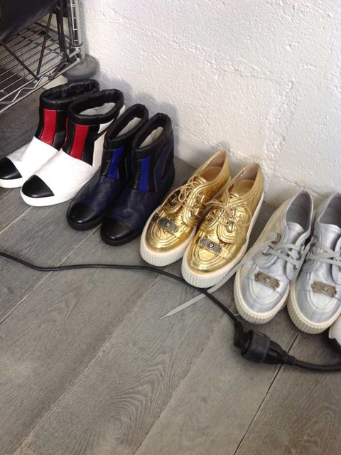 <p>Chanel shoes for the shoot.</p>