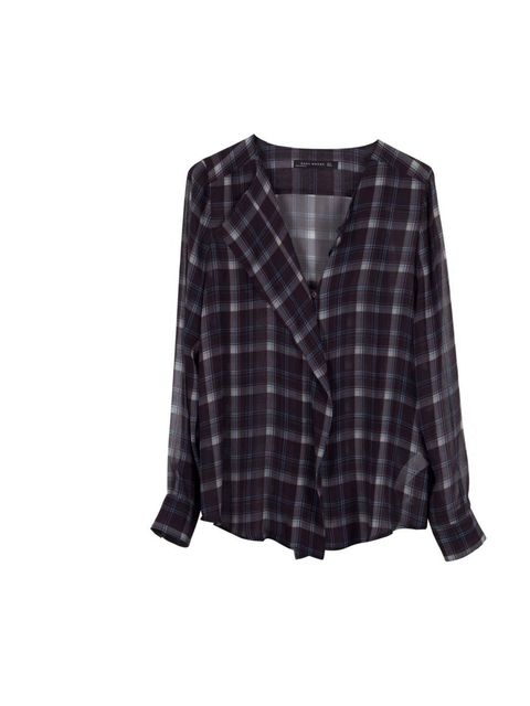 """<p>The perfect blouse that nods to the 1990's grunge trend while remaining feminine.</p><p>Checked blouse, £29.99 <a href=""""http://www.zara.com/webapp/wcs/stores/servlet/product/uk/en/zara-neu-S2013/358004/1110519/CHECKED%20SHIRT"""">Zara</a></p>"""